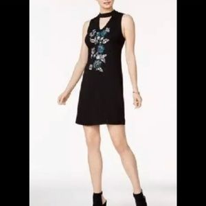 Kensie Cut-out Floral Embroidered Dress NWT